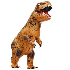 Image 2 - Взрослый надувной костюм динозавра T REX Косплей вечерние костюмы на Хэллоуин для мужчин и женщин аниме маскарадный костюм