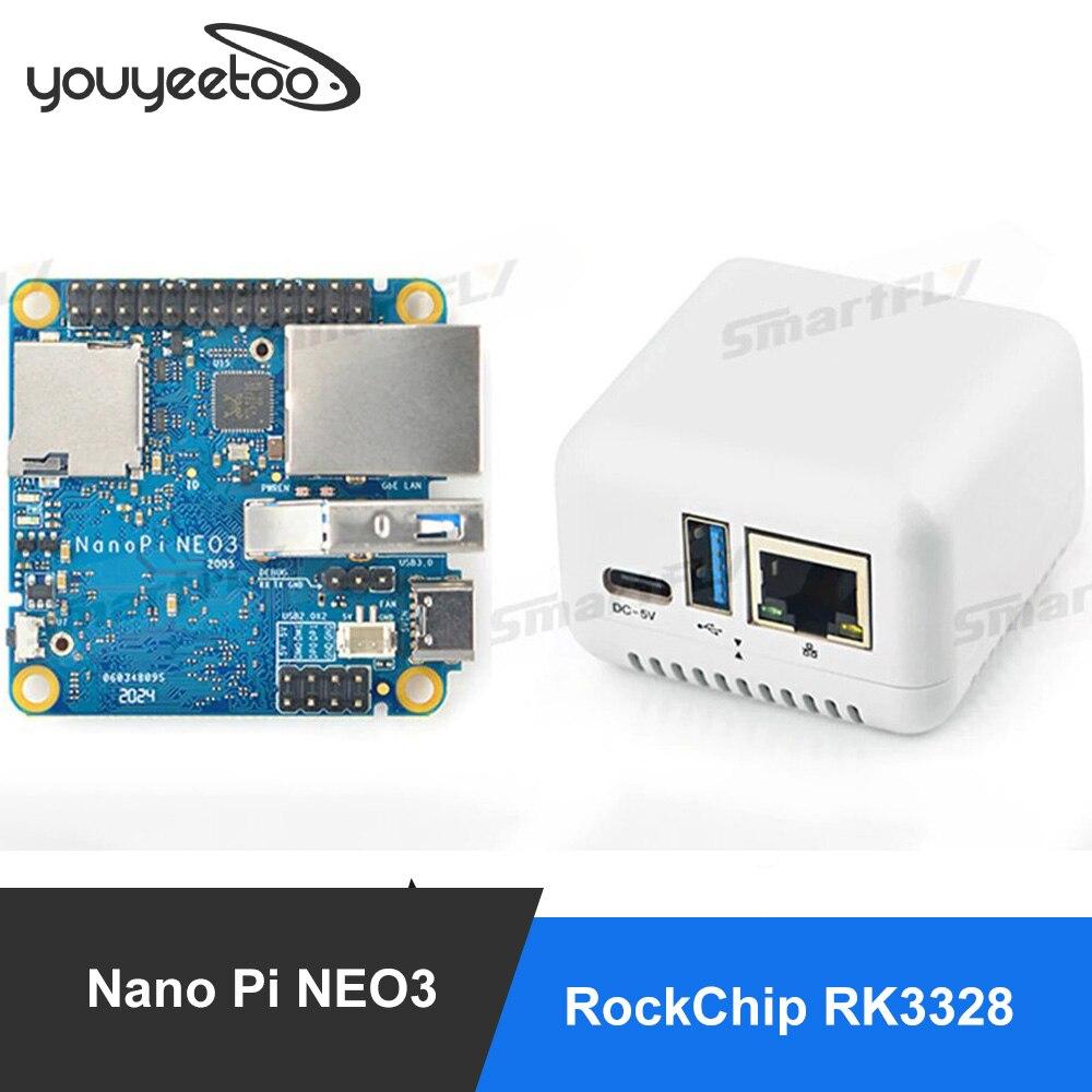 FriendlyElec Nanopi NEO3 Mini Development Board(SBC) RK3328 гигабитный Ethernet порт 1 ГБ/2 ГБ DDR4 RAM OpenWrt/Ubuntu Nanopi NEO2