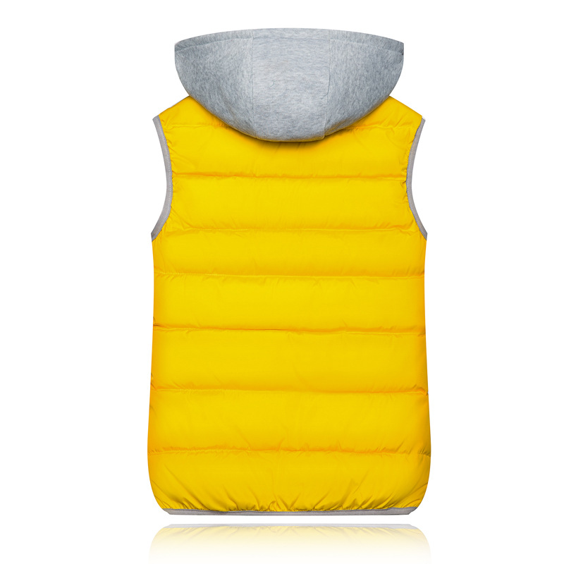 H092094c6a54e438bb7fbcfa999c934c9A 2019 Winter Coat Women Hooded Warm Vest Plus Size Candy Color Cotton Jacket Female Women Wadded Feminina chalecos