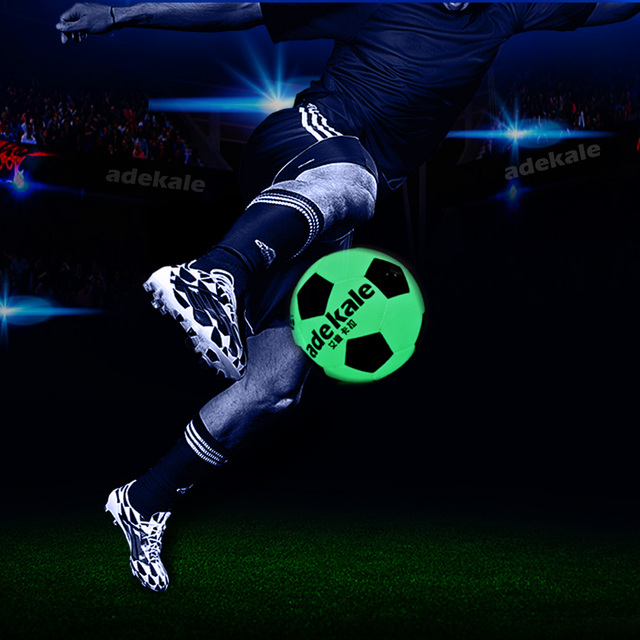 Adult No 5 Child No 4 Fluorescent Football Standard Match Training Glowing Soccer Ball