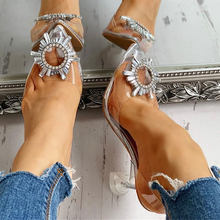 Doratasia 2020 big size 42 wholesale dropship High Heels sexy crystals Sandals Female Summer women's Shoes Lady footwear(China)