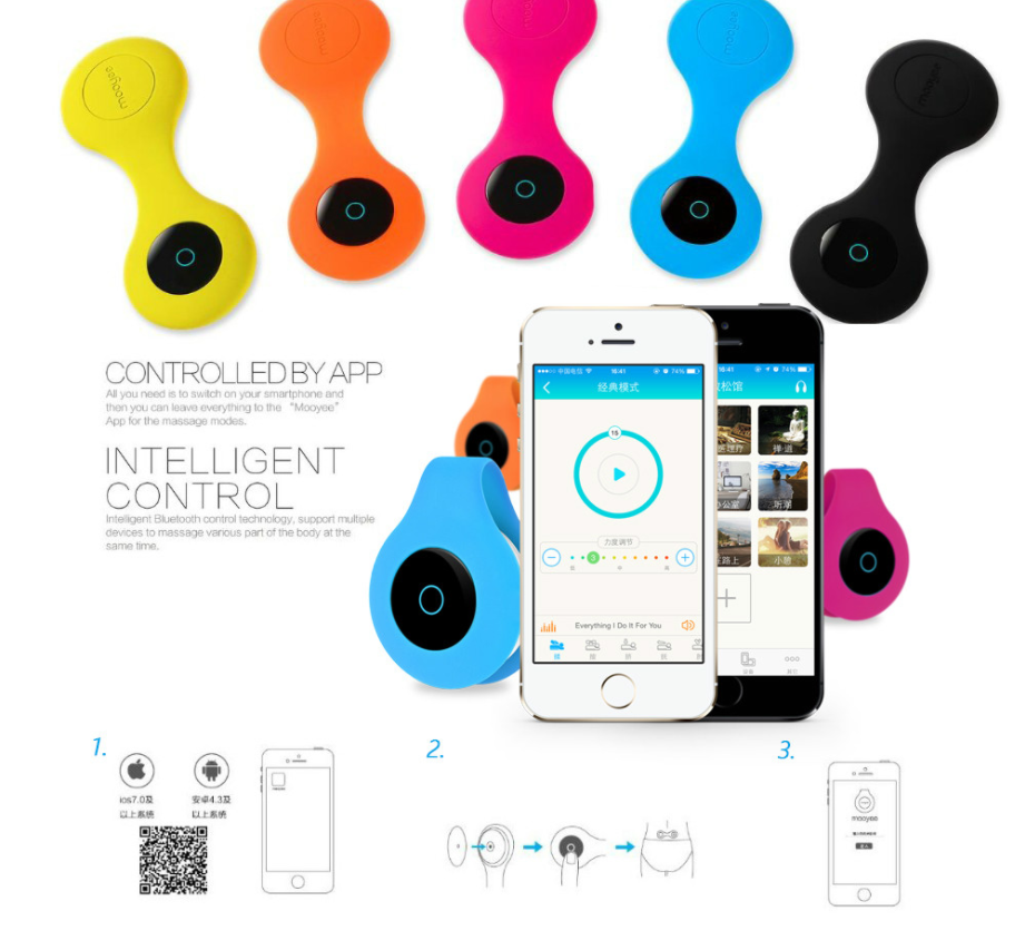 Mooyee M1 Smart Relaxer Wireless Smart Bluetooth Back Relaxer Smart Massager For IPhones And Android For Adult Women Office Home