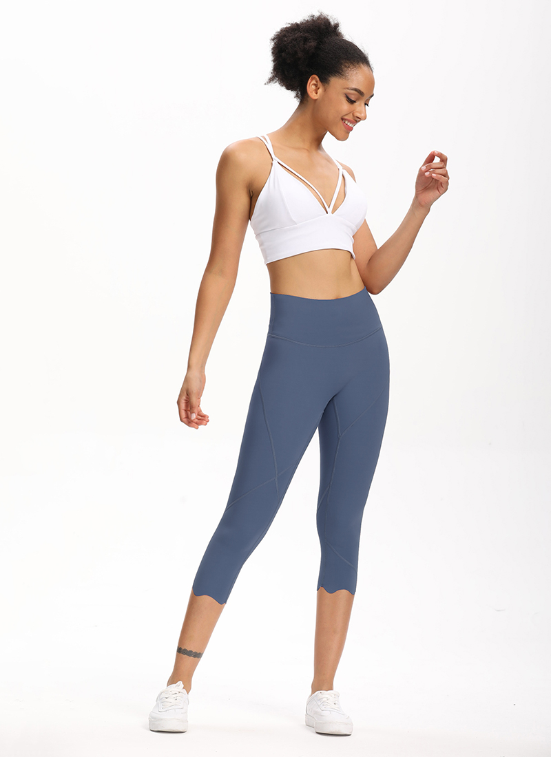 H0920b4bd76b4423cbd7655551c20e8deI Cardism High Waist Sport Pants Women Yoga Sports Gym Sexy Leggings For Fitness Joggers Push Up Women Calf Length Pants Wave