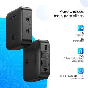 Image 3 - UGREEN Bluetooth 5.0 verici alıcı APTX HD 2 in 1 kablosuz ses adaptörü dijital optik TOSLINK için 3.5mm AUX jakı TV PC
