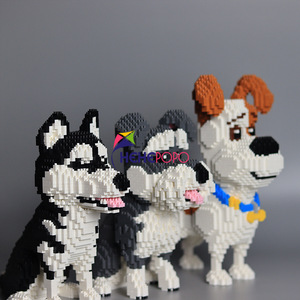 Image 5 - 2000 + szt. 16013 Mike Dog Building Blocks diamentowe mikro małe elementy pisownia zabawkowe zwierzątko Dog Block zabawki modele dla dzieci prezenty