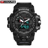 Männer Military Uhr 50m Wasserdichte Armbanduhr LED Quarz Uhr Sport Uhr Männlichen relogios masculino Sport S Shock Uhr Männer