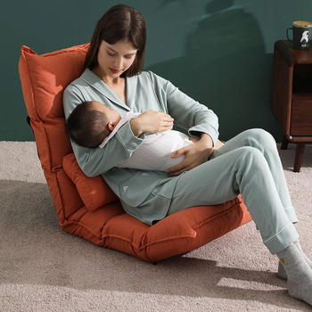 Newborn Breastfeeding Chair Nursing Baby Waist Cushion on Bed Reading and Sleeping Lazy Chair with Pillow