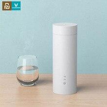 Youpin Viomi elektrikli su bardağı 400ml taşınabilir termos güveç fincan dokunmatik kontrol yalıtım Pot sıcak tutmak şişe seyahat için açık