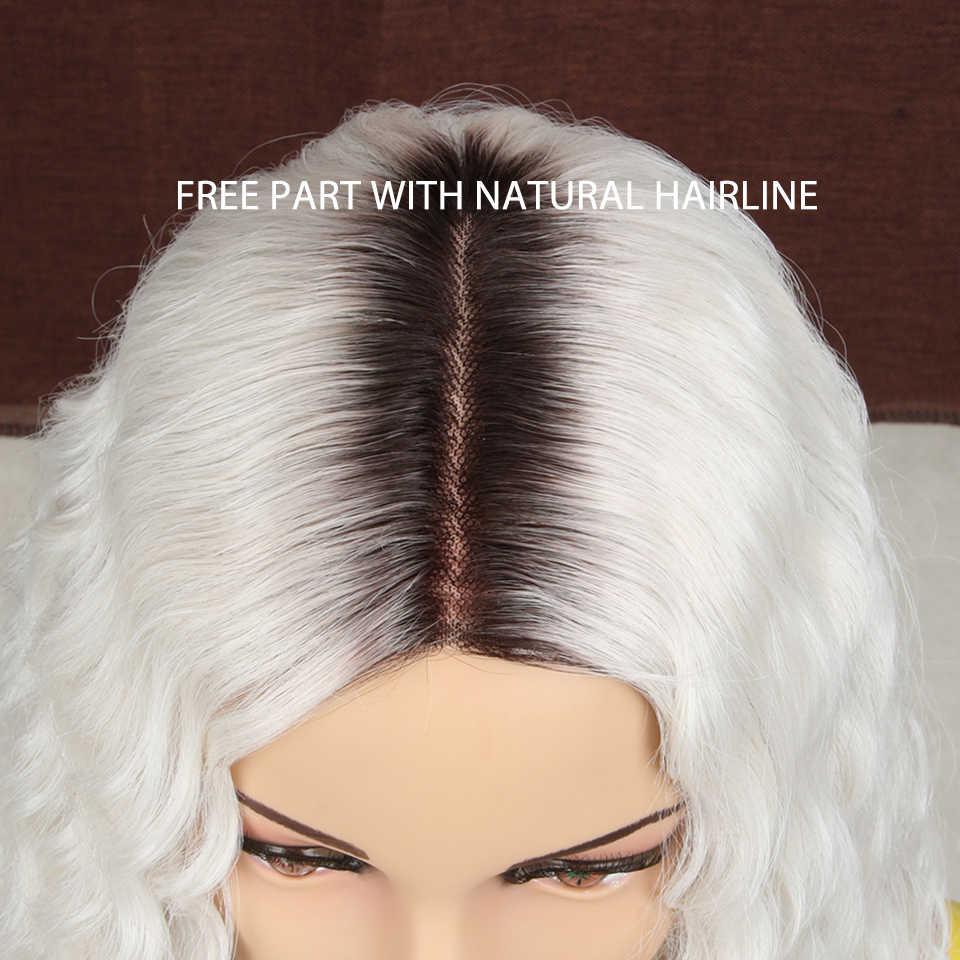 Синтетические парики MAGIC для чернокожих женщин, 14 дюймов, розовые, красные, водостойкие, термостойкие