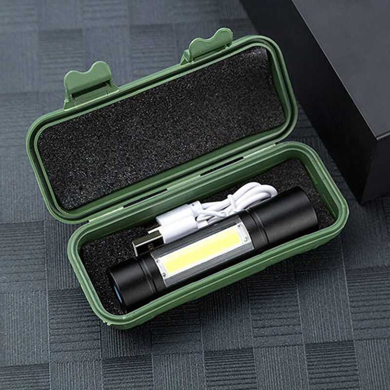Penlight Led Flashlight Torch Lamp For Outdoor Waterproof 2000 Lumens Built In Battery Shock Resistant,Self Defense,Hard Light