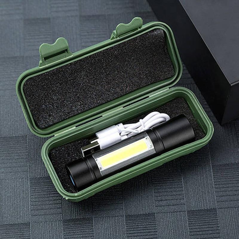 Penlight Led Flashlight Torch Lamp For Outdoor Waterproof 2000 Lumens Built In Battery Shock Resistant,Self Defense,Hard Light