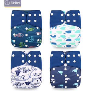 Elinfant Diaper-Cover Coffee Nappy Pocket-Diapers Cloth Adjustable New Wholesales100pcs