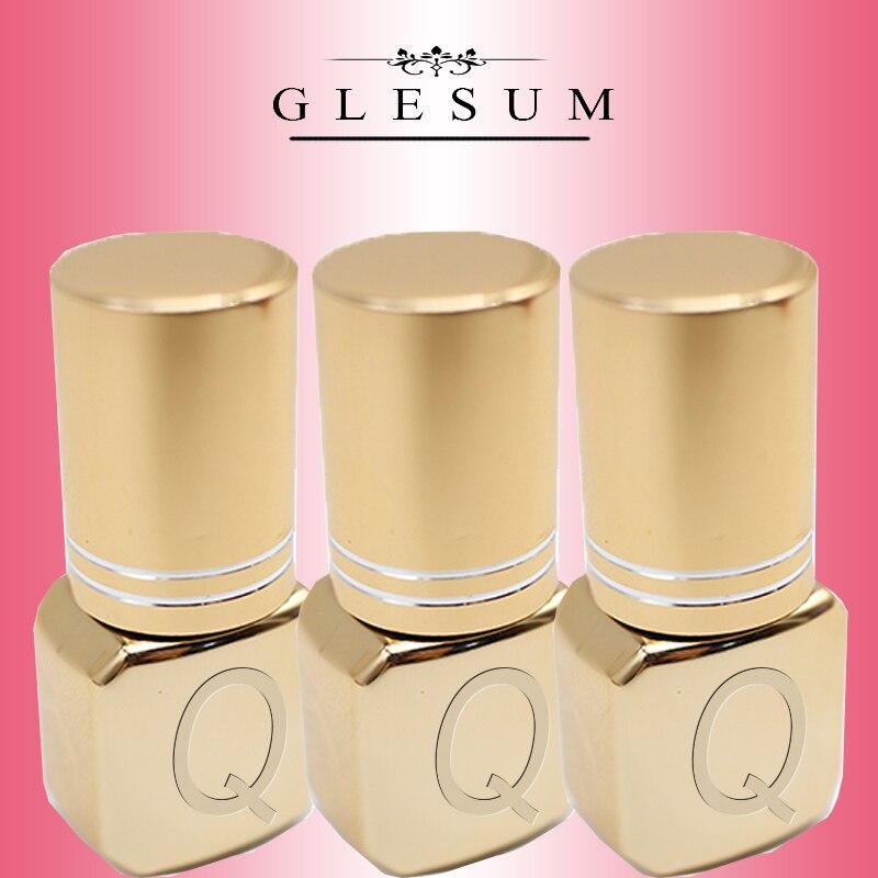 Glesum 2019 Nova Chegou Forte 0.5s Seco Preto/Extensão Dos Cílios Maquiagem Cola Incolor 3 Garrafas de Látex conjunto frete Baixo Irritar