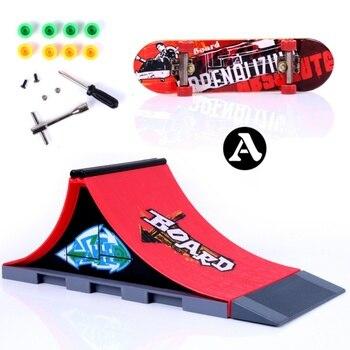 New Skate Park Fingerboard Skate Park Fingerboard ABCDEF Board Ultimate Parks Skateboard Toys professional fingerboard 3PCS фото