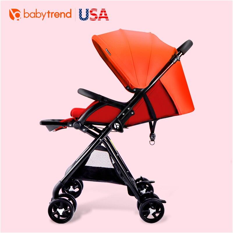 Poussette légère de poussette de paysage élevé avec le chariot de pliage de voiture de bébé de parapluie inclinable de bébé