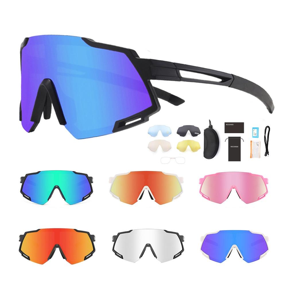 Polarized Cycling Sunglasses TR90 Interchangeable 5 Lenses Men Women Sport 100%UV400 Glasses Motorcycle Driving MTB Bike Goggles