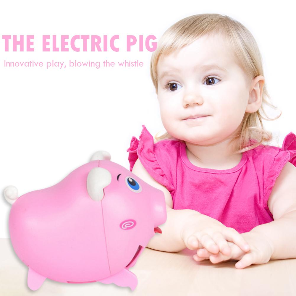 Intelligent Whistle Running Piglet Sound Induction Electric Baby Kids Puzzle Toy Skillful Design And Exquisite Appearance