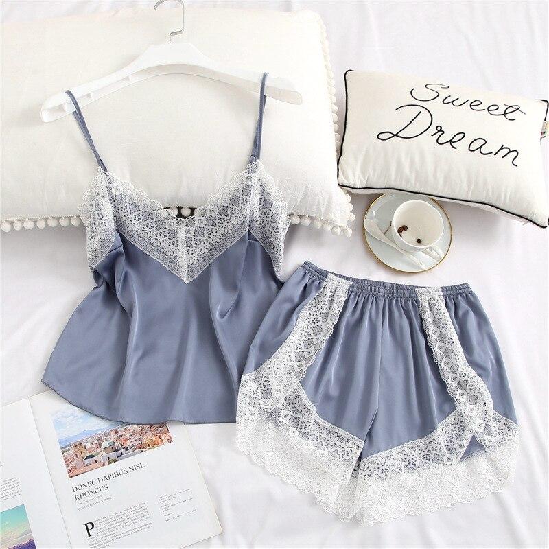 Sleepwear Women Pajamas Sets 2020 Satin Pyjamas Ni