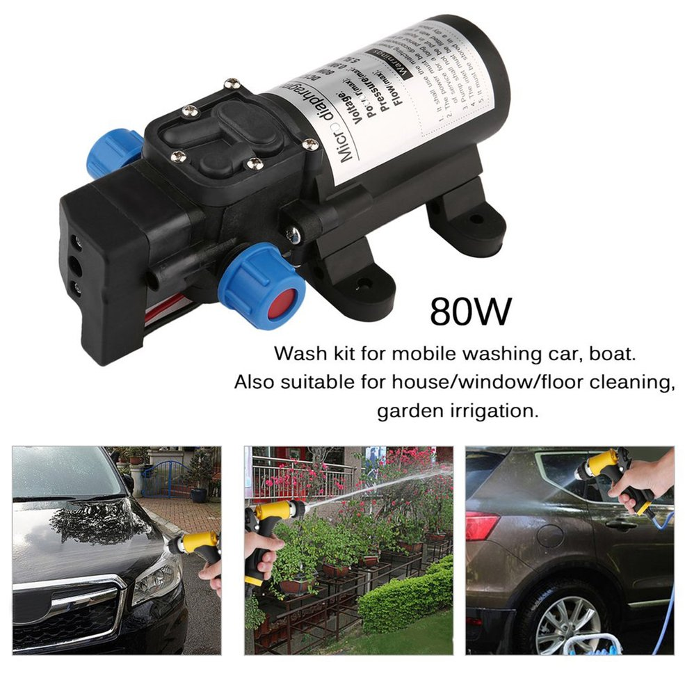 Portable DC12V 80W High Pressure Electric Water Pump Garden Pool Pump Upgrade Trigger Sprayer For Watering Car Washing