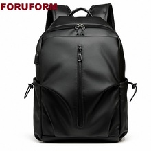 Fashion Computer schoolbag female Backpacks Men #8217 s leisurePU Leather Backpacks College Students #8217 personality Backpack ZH-365 cheap FORUFORM Embossing Unisex Softback Silt Pocket 20-35 Litre Cell Phone Pocket Interior Zipper Pocket Computer Interlayer