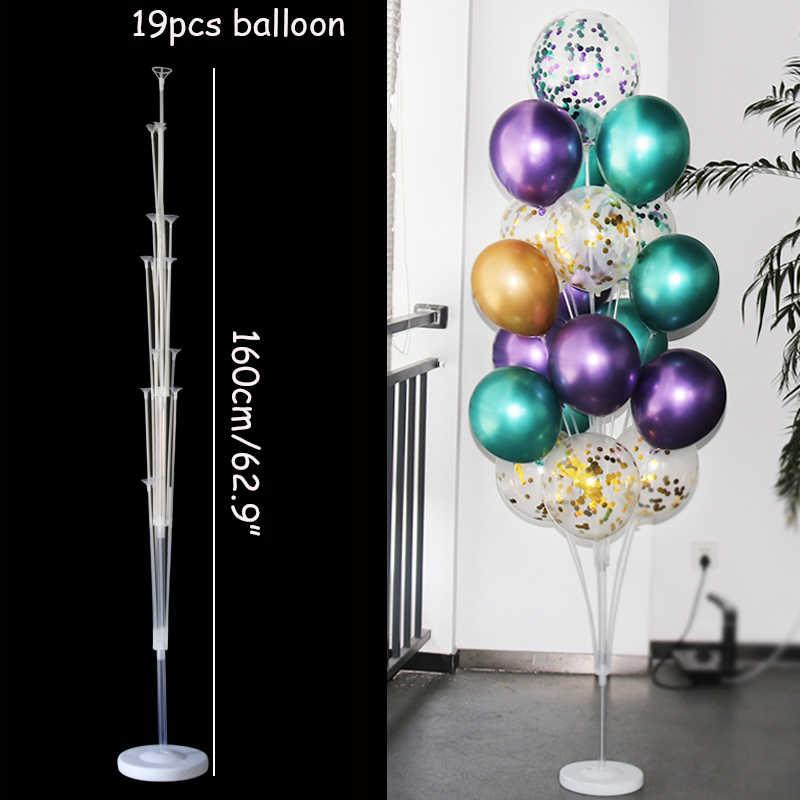 Balon Pesta Ulang Tahun Balon Berdiri Pemegang Kolom Confetti Balon Pesta Ulang Tahun Anak-anak Dewasa Pernikahan Natal Bola
