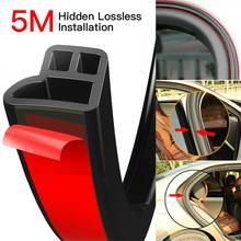 5M L Hình Cói Dây Cửa Xe Ô Tô Hood Cốp Xe Edge Moulding Cao Su Weatherstrip Trầy Xước Chống Xe Đệm Cửa dây Kiểu Dáng Xe