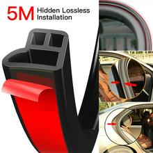 5M L Shape Seal Strip Car Door Hood Trunk Trim Edge Moulding Rubber Weatherstrip Scratch Proof Car Door Seal Strip Car Styling