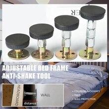 Marco de cama de rosca ajustable de 33-110MM herramienta antivibración cama fija no vacila soporte telescópico para pared de habitación DROPSHIPPING