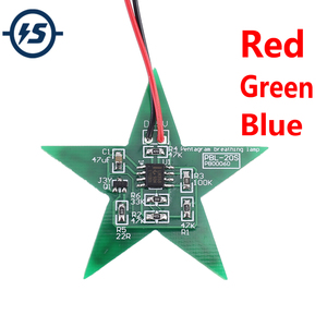 DIY Kit Five-Pointed Star Breathing Light Gradient LED Light for Christmas Soldering Training Red Green Blue