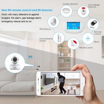 KERUI K52 Wireless Smart Home WIFI GSM Alarm System Smoke Fire APP Control Security  Door Sensor Detector Surveillance IP Camera 6