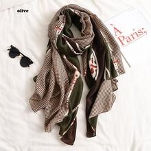 Женский новейший хлопковый шарф с узором «гусиная лапка» 3 цвета 10 шт./лот