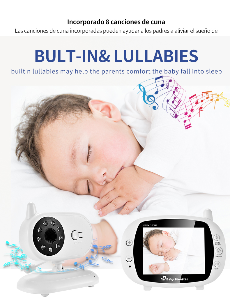 3 inch Baby Monitor With Security Night Vision Camera And a Voice Call For child Security 11