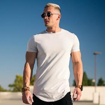 Men Tshirt Casual Cotton Solid Color T-shirt Curved Hemline Raglan Sleeve   Mens Workout Shirts Various Colors 3XL face print dolman sleeve curved hem tshirt