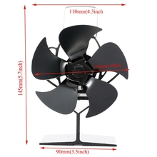 2021 New SF103S 5 Blades Heat Powered Stove Fan for Wood Log Burner Heater Fireplace Fuel