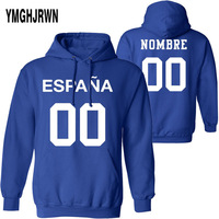 SPAIN male youth custom made name number esp sweatshirt nation flag es spanish country college print photo text boy clothes