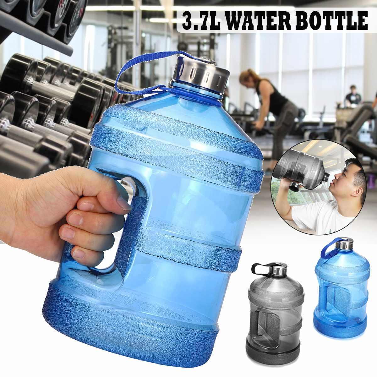 3.7L Big Sport Gym Training Workout Bike Drink Water Bottle Cap Kettle