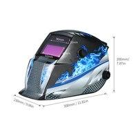 New Solar Power Industrial Welding Helmet Auto Darkening Welding Colorful Helmet TIG MIG with Adjustable Head Band