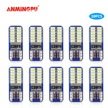 цена на ANMINGPU 10x Signal Lamps W5W Led Bulb 24 3014 Chips T10 Led Car Bulb Clearance Lights Interior Lamp Reading Light 12V 6000k