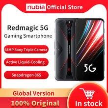 Versão global nubia magia vermelha 5g celular 6.65 polegada 8/12gb ram 128/128gb snapdragon 865 android 10 telefone de jogos