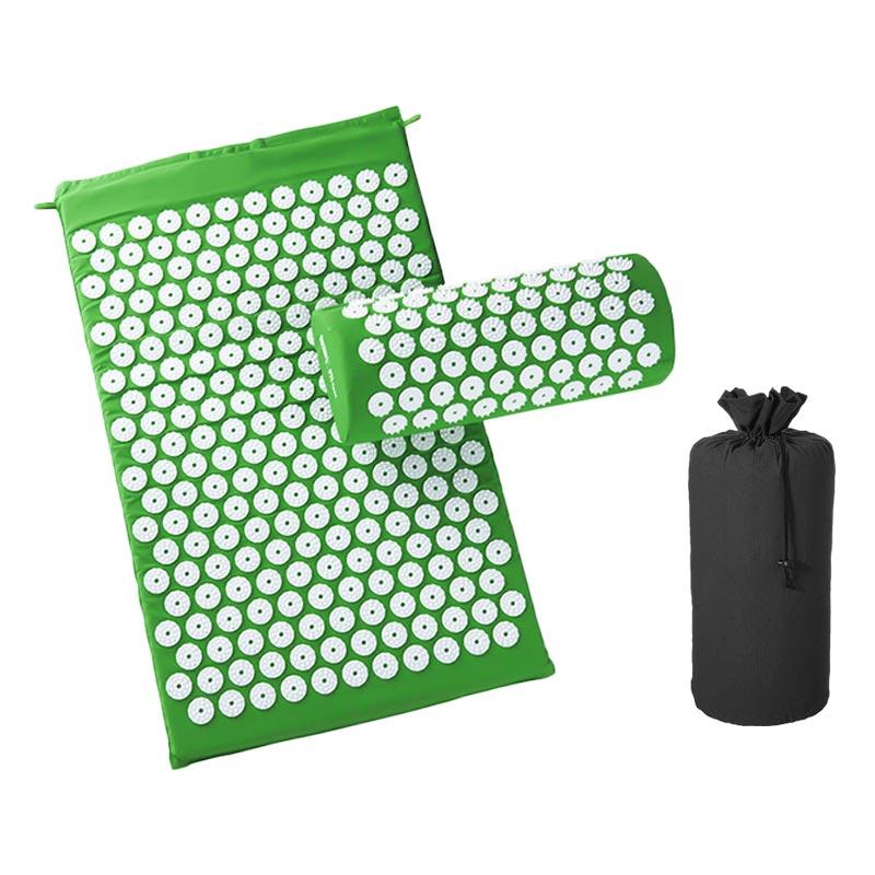 Green-Massage Acupressure Mat Relieve Back Body Pain Yoga Mat Bag