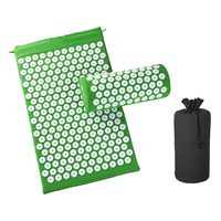 Green-Massage Acupressure Mat Relieve Back Body Pain Yoga Mat Bag