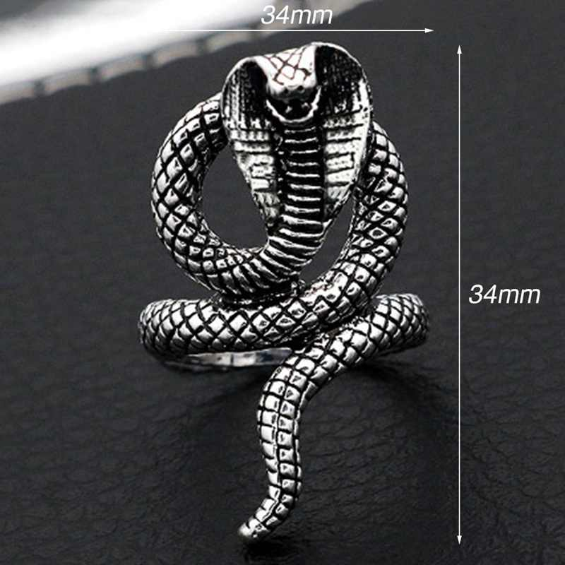 Hoge Kwaliteit Personaliseert Deluxe Giftige Slang RING Mens Vrouwen Sieraden Ringen