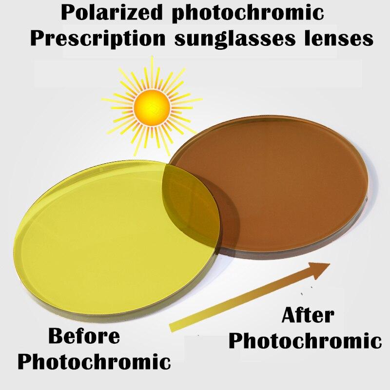 Polarized Photochromic lenses prescription sunglasses lenses Day and night driving lenses Anti-UV