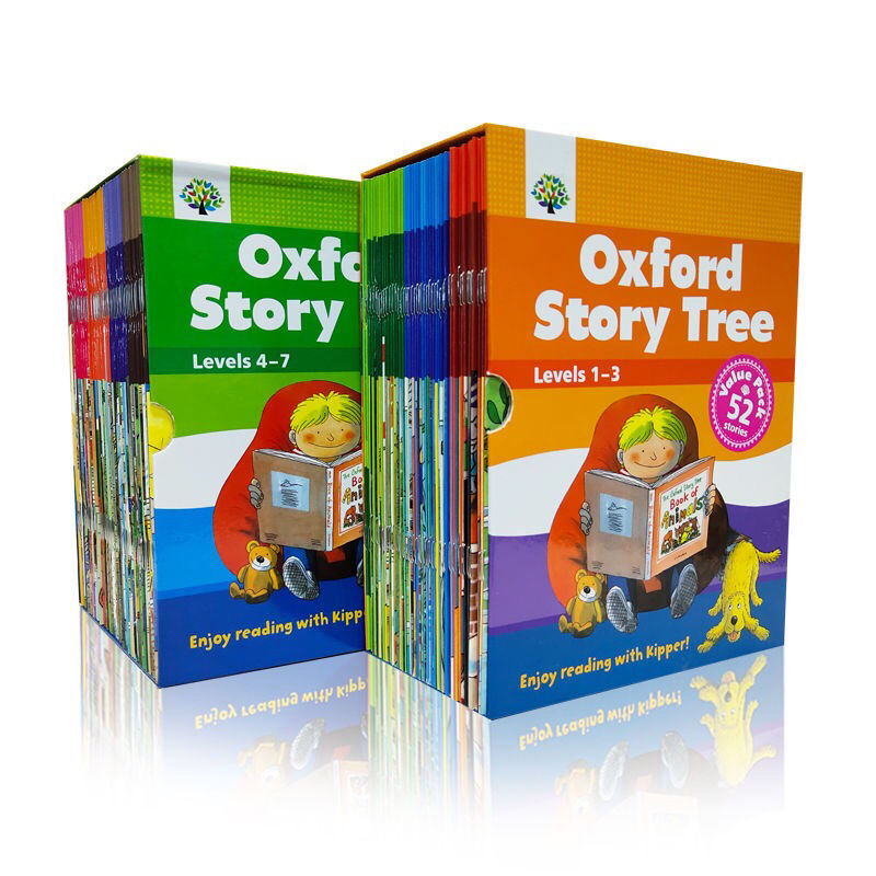 52 Books/set 1-3 Levels Oxford Story Tree Baby English Reading Picture Book Story Kindergarten Educational Toys For Children Art