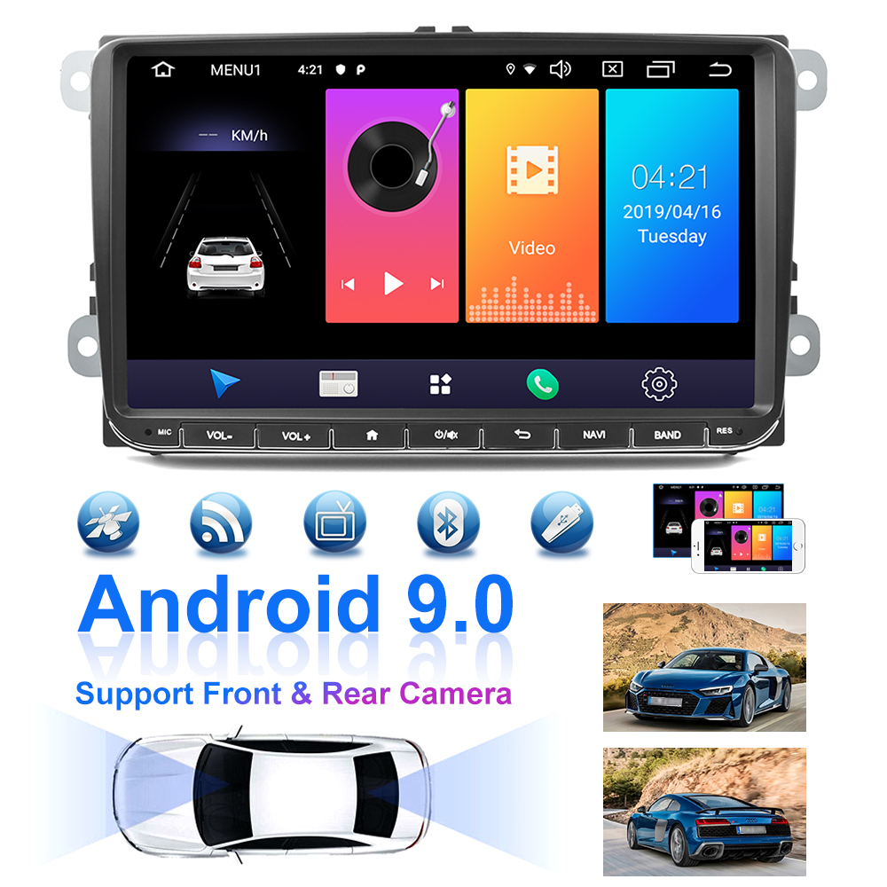"Image 3 - Podofo 9"" Android 2din Car Radio GPS Navigation for VW Volkswagen SKODA GOLF 5 Golf 6 POLO PASSAT B5 B6 JETTA Seat Car Autoradio-in Car Multimedia Player from Automobiles & Motorcycles"