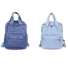 Винтажный Джинсовый Рюкзак школьный дорожный рюкзак сумки на
