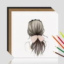 Square Blank Kraft Paper 250g Postcard Hand Drawing DIY Graffiti Black Brown White Greeting Card Thick Hard Cardboard Scrapbook(China)