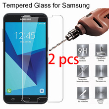 2pcs 9H HD Screen Protector for Samsung Galaxy S7 S6 S5 S4 Mini Toughed Hard Tempered Glass Protective Glass On Galaxy S3 Neo S2