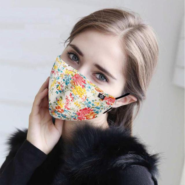 Men Women fashion Cotton mask PM2.5 Anti haze protective dust masks Activated carbon filter proof Flu face mouth mask washable 1