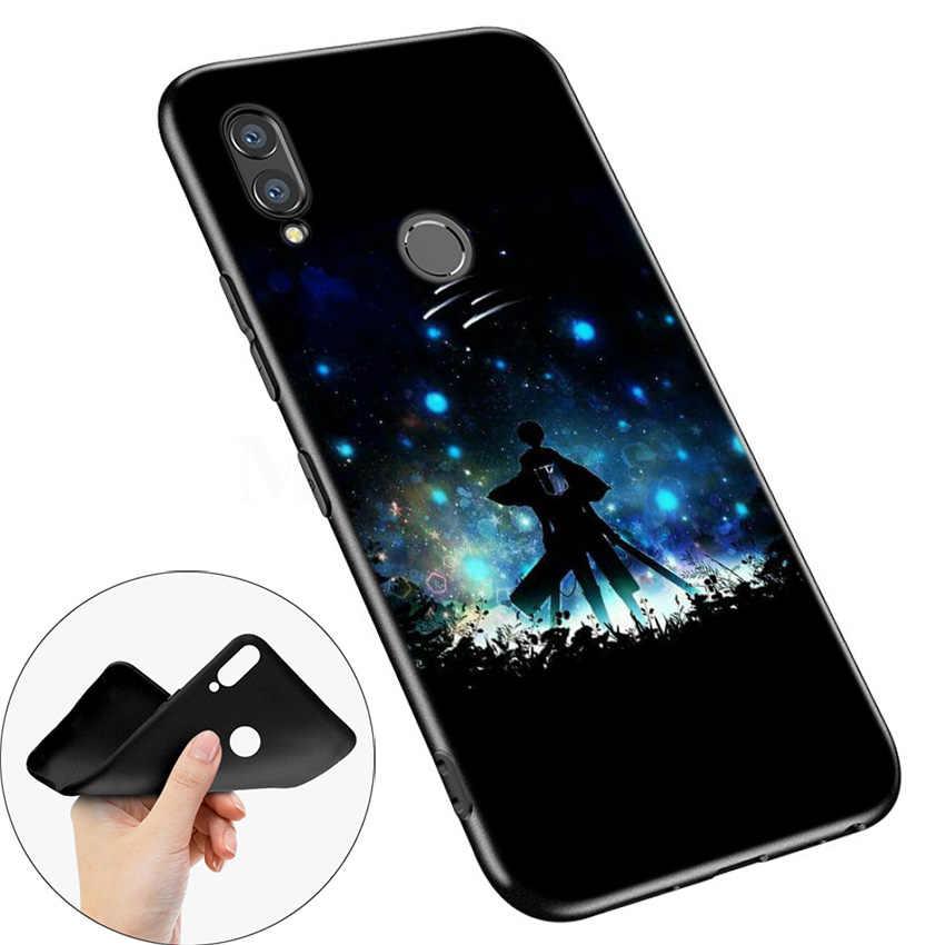 黒シリコーン Huawei 名誉 10i Y7 Y6 Y5 Y9 8X 8C 8S 9 10 Lite プロ 2018 2019 楽しむ 9E 9S タイタンレヴィ